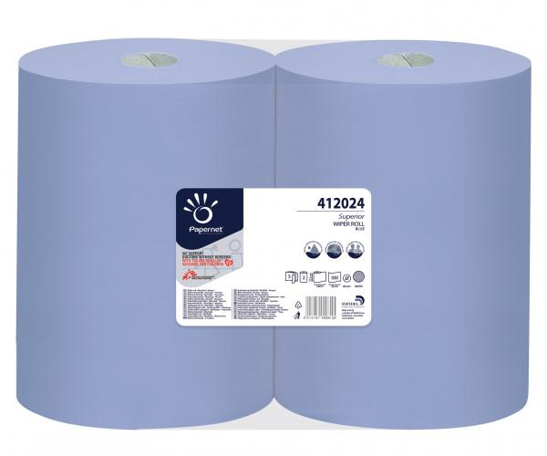 Putzpapier-Rolle blau, 500 Tücher, 2 Rollen